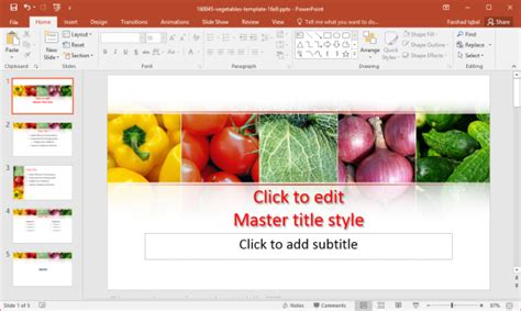 Free Vegetarian Powerpoint Templates Vegetarian Presentation Template