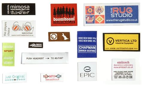 design labels online uk custom embroidered labels and label embroidery from