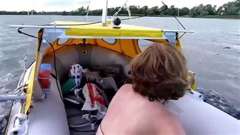 homemade sail for inflatable boat intex mariner with sail and cabin diy homemade inflatable