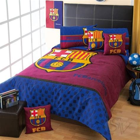 Boys Football Bedding Sets Club Fcb Barcelona Football Soccer Comforter Sheet Set New Boys Bedding Decor Ebay