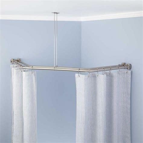 double corner curtain rod 17 best ideas about double shower curtain on pinterest