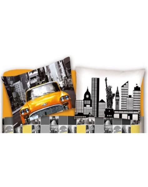 fantasia a letto biancheria casa il letto con fantasia new york lenzuola