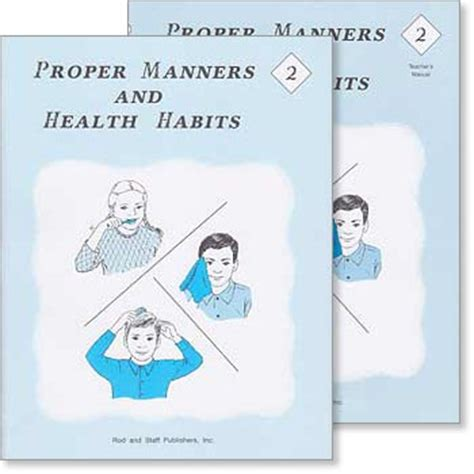 patterns of nature rod and staff grade 2 health quot proper manners and health habits quot set