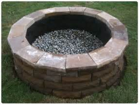 backyard firepit cement paver pit beauross