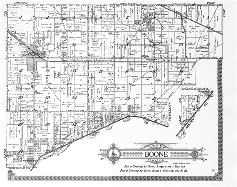 boone map porter county indiana genweb township plat maps 1921