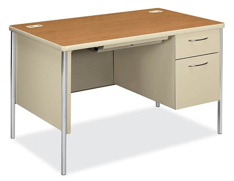 hon mentor series single pedestal desk 30 quot x 48
