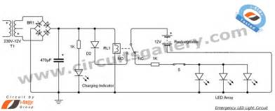 light circuit led 12v emergency light circuit diagram electronics circuits