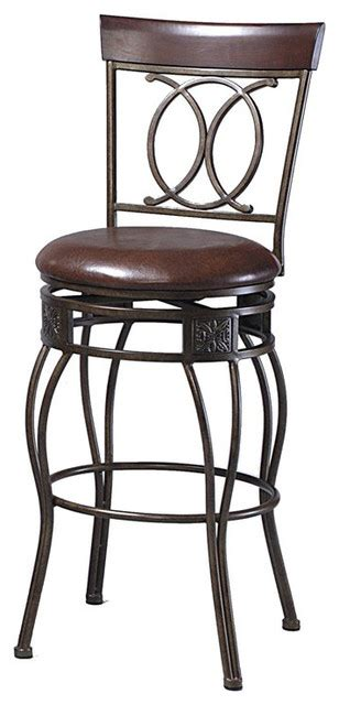 30 In Bar Stools Swivel With Back by Linon O X Back 30 Inch Bar Stool With Swivel