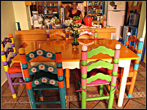 Painting Kitchen Cabinets Blog by Marisol 6 Painted Chairs And Table Flickr Photo Sharing