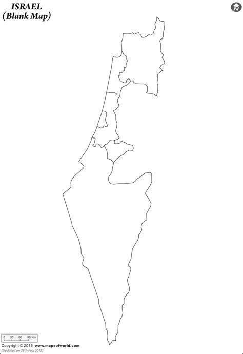 printable map israel blank map of israel israel outline map