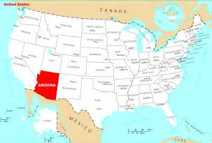 where is arizona located on the map where is arizona located mapsof net