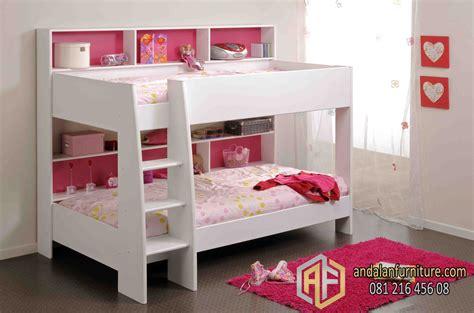 Tempat Tidur Bayi Kembar tempat tidur tingkat anak kembar perempuan minimalis