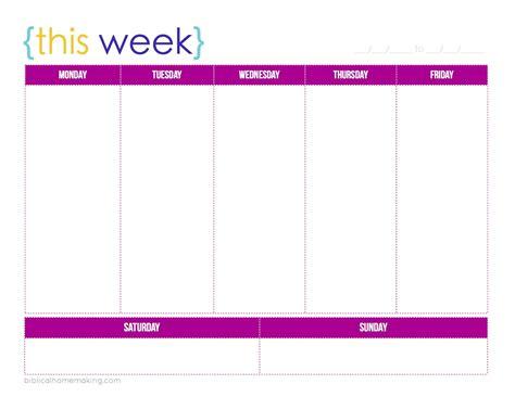printable calendar one week one week printable calendar printable calendar 2017