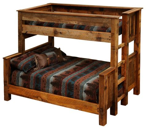 rustic bunk bed barnwood beds twin over full barnwood bunk beds rustic