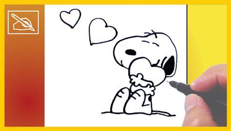 imagenes de snoopy de amor para dibujar c 243 mo dibujar a snoopy enamorado how to draw snoopy in