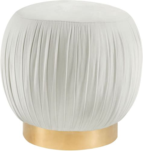 Tulip Cream Velvet Ottoman From Tov Furniture O114 Ottoman Tulip
