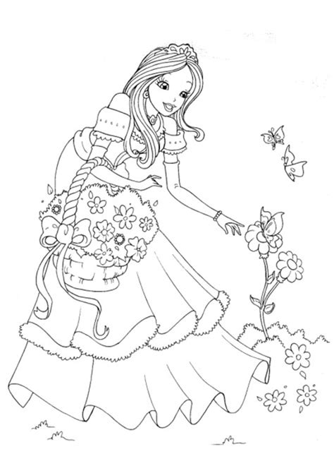 princess coloring pages not disney fantasy princess coloring pages download
