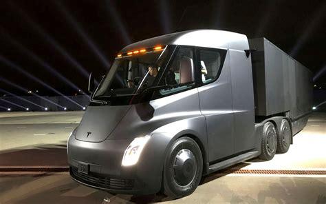 tesla truck tesla s semi electric truck customer is dhl