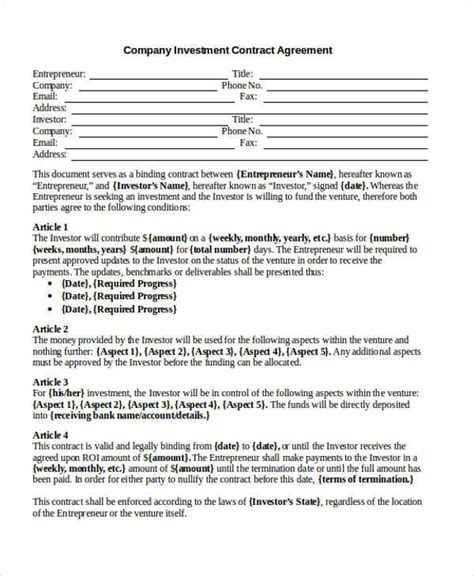company contract agreement 43 contract agreement formats sle templates