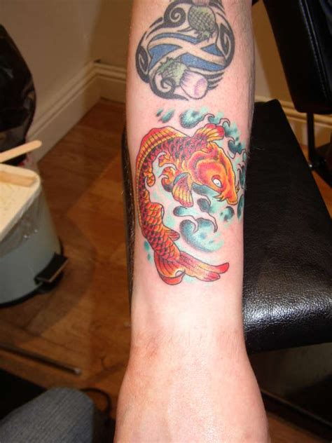 koi tattoo small small colour koi tattoo