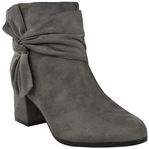 Heels Chelsea Bow Sandals by Womens Ankle Boots Chelsea Bow Block Heels Comfy