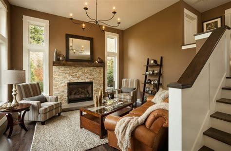the living room chandler contemporary living room with stone fireplace by lori