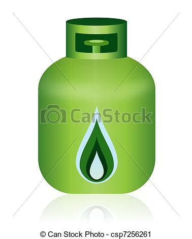Energy Efficient Home Plans clipart of green natural gas bottle icon this