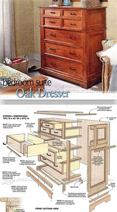 woodworking plans bedroom furniture 25 best ideas about dresser plans on pinterest diy