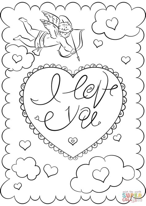 i you coloring pages quot i you quot card coloring page free printable coloring