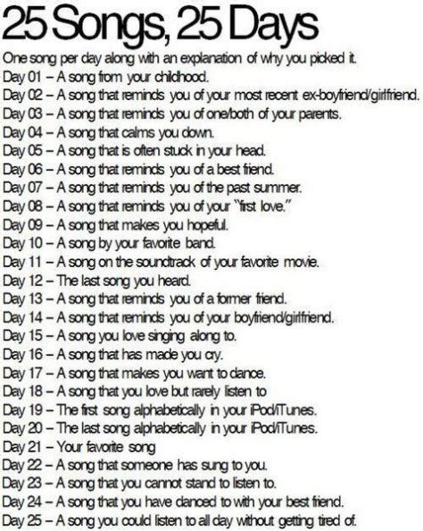 30 day song challenge 2015 day 25 the platter 25 songs in 25 days petitemagique