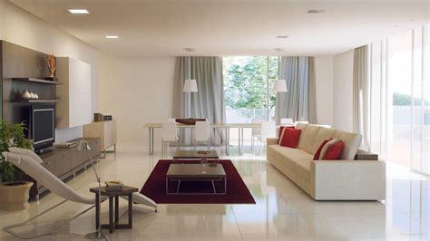 Salon Vs Living Room Kırmızı Ve Beyaz Kullanılarak Dekore Edilen Salon