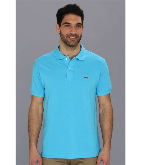 Ransel Lacoste Classic 115 1 lacoste classic pique polo shirt in blue for quantum blue lyst