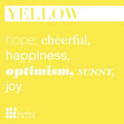 color for happiness words that describe yellow sensational color