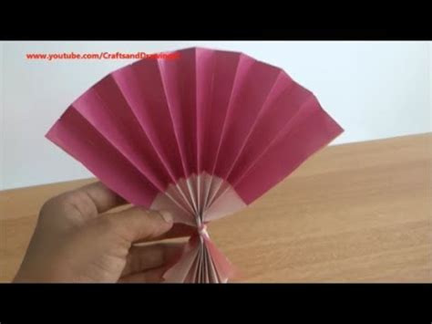 How To Make A Japanese Fan Out Of Paper - how to make a japanese fan easily