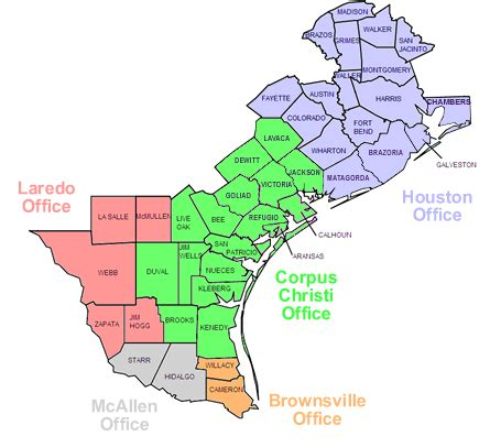 southern district of texas map u s pretrial services southern district of texas