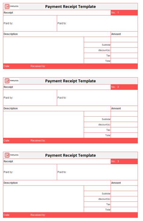 cash payment receipt partial payment receipt cash receipt template