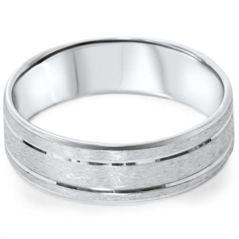 mens comfort fit wedding rings mens 6mm flat brushed comfort fit wedding band ring 14k