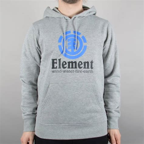 Sweater Element Skate For 2 Zalfa Clothing element skateboards vertical pullover hooded top grey