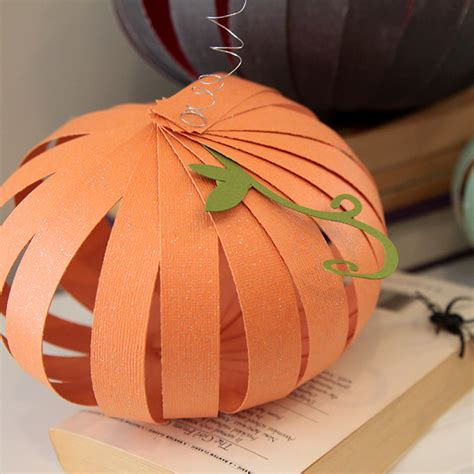 Paper Pumpkin Crafts - easy patterned paper pumpkins can do it it s