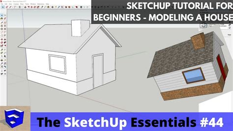 google sketchup house tutorial sketchup tutorial for beginners part 2 modeling a