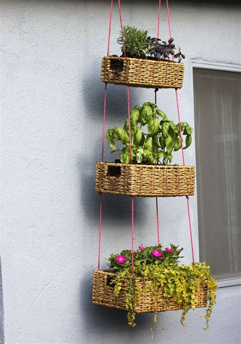 hanging planter basket hanging basket garden diy a beautiful mess