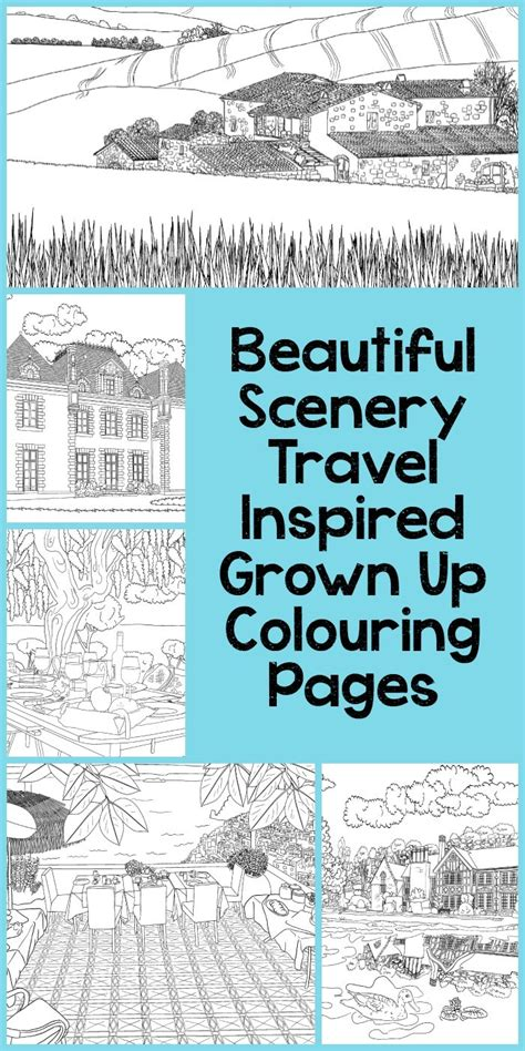c printable area landscape beautiful scenery colouring pages in the playroom