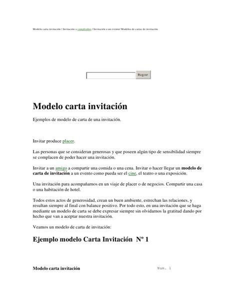 modelo carta de invitacion a conferencia modelo carta invitaci 243 n