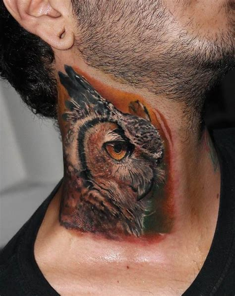 owl tattoo designs neck image gallery owl neck tattoo