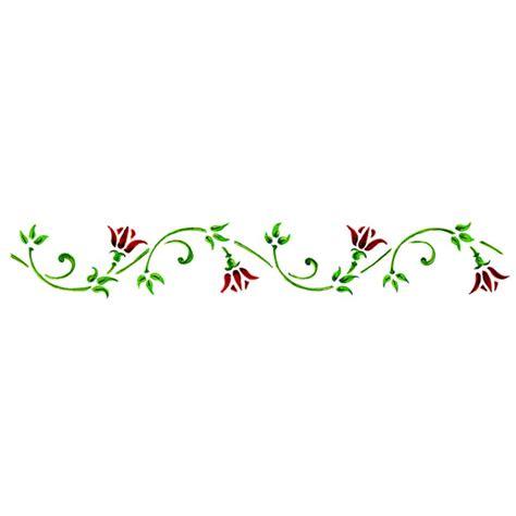 cenefas flores plantilla cenefa