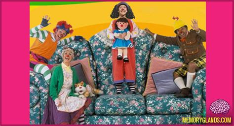 comfy couch show the big comfy couch memory glands funny nostalgic photos