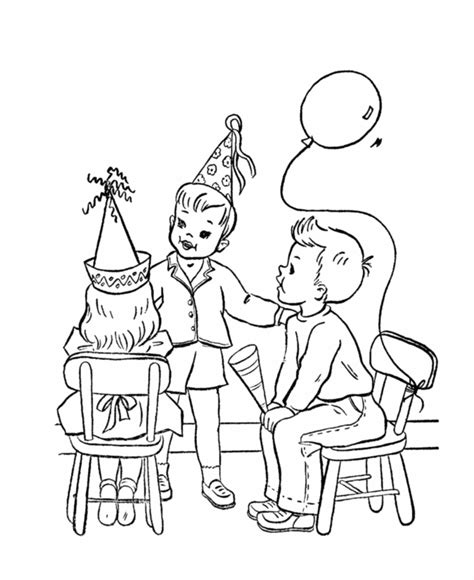 birthday decorations coloring pages birthday party coloring pages coloring home