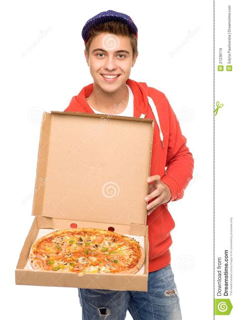 pizza delivery pizza delivery stock image image of casual