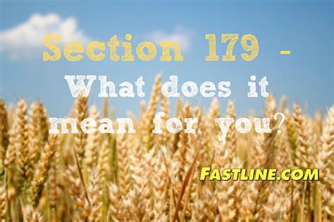 what does sectionalism mean section 179 what does it mean for farmers fastline