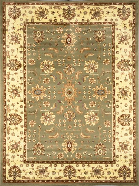6x8 Area Rug Green Area Rug 6x8 Ivory Carpet 3206 Actual 5 2 Quot X 7 2 Quot Ebay